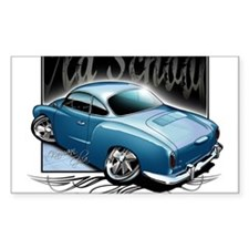 Bg Karmann Ghia Blue Rectangle Decal