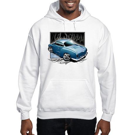 Bg Karmann Ghia Blue Hooded Sweatshirt