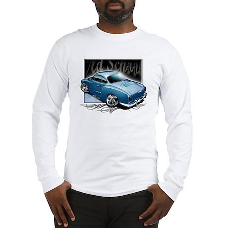 Bg Karmann Ghia Blue Long Sleeve T-Shirt