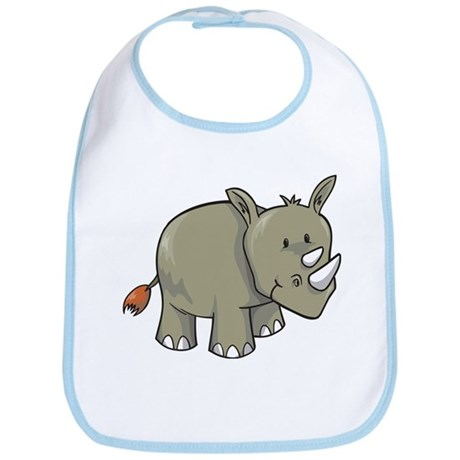 Two Horn Rhino Bib