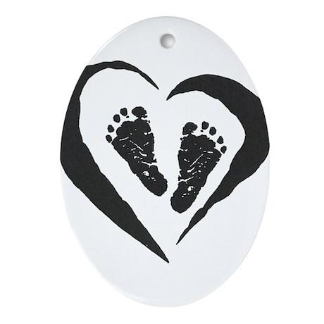Baby Feet Oval Ornament