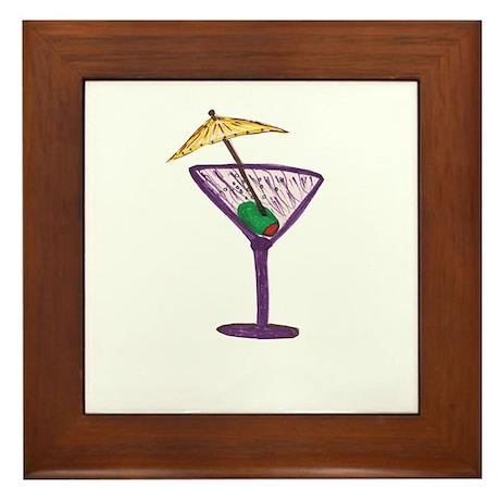 Martini Holiday Framed Tile