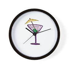 Martini Holiday Wall Clock
