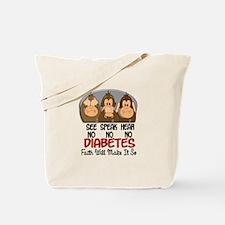 See Speak Hear No Diabetes 1 Tote Bag