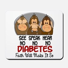 See Speak Hear No Diabetes 1 Mousepad