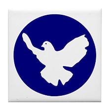 Peace Dove Tile Coaster