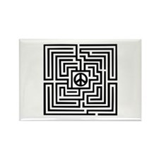 Labyrinth - Peace Rectangle Magnet (10 pack)