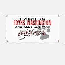 Forks, Washington - Imprinted Banner