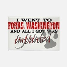 Forks, Washington - Imprinted Rectangle Magnet