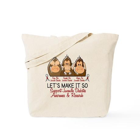See Speak Hear No Juv Diabetes 2 Tote Bag