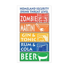 Homeland Security Drink Level Rectangle Decal