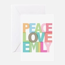 Peace Love Emily Greeting Card