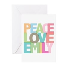 Peace Love Emily Greeting Cards (Pk of 20)