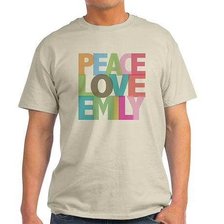 Peace Love Emily Light T-Shirt