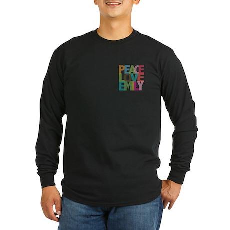 Peace Love Emily Long Sleeve Dark T-Shirt
