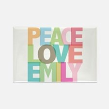 Peace Love Emily Rectangle Magnet