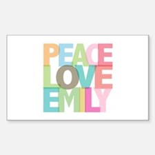 Peace Love Emily Rectangle Decal