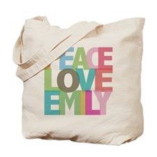 Peace Love Emily Tote Bag