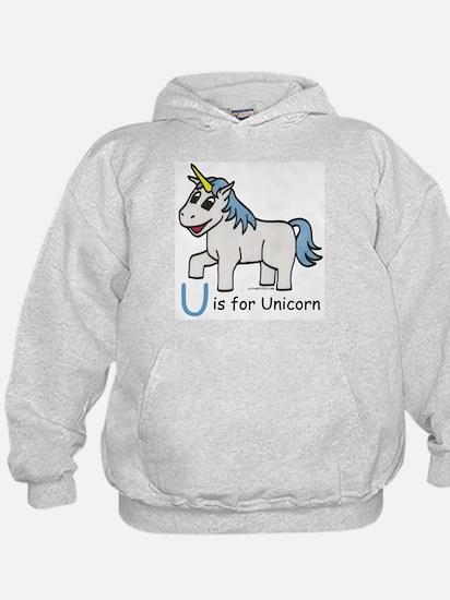U is for Unicorn Hoodie