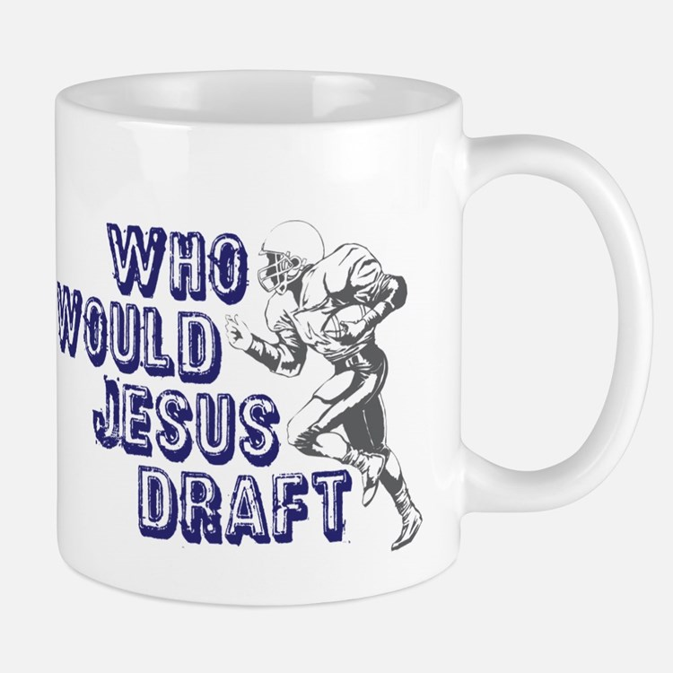 Fantasy Football Jesus Draft (WWJD) Small Small Mug