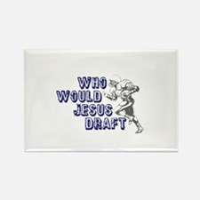 Fantasy Football Jesus Draft (WWJD) Rectangle Magn