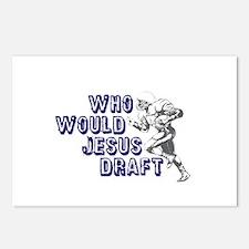 Fantasy Football Jesus Draft (WWJD) Postcards (Pac