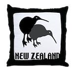 Funny New Zealand Kiwi Throw Pillow