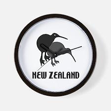 Funny New Zealand Kiwi Wall Clock