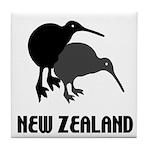 Funny New Zealand Kiwi Tile Coaster