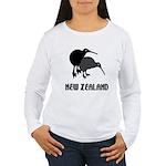 Funny New Zealand Kiwi Women's Long Sleeve T-Shirt