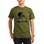 Funny New Zealand Kiwi Organic Men's T-Shirt (dark