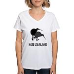Funny New Zealand Kiwi Women's V-Neck T-Shirt