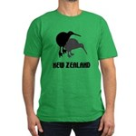 Funny New Zealand Kiwi Men's Fitted T-Shirt (dark)
