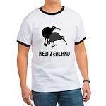 Funny New Zealand Kiwi Ringer T