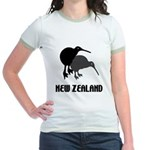 Funny New Zealand Kiwi Jr. Ringer T-Shirt