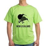 Funny New Zealand Kiwi Green T-Shirt