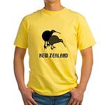 Funny New Zealand Kiwi Yellow T-Shirt