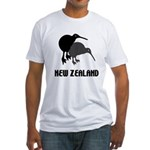 Funny New Zealand Kiwi Fitted T-Shirt