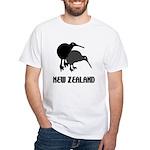 Funny New Zealand Kiwi White T-Shirt