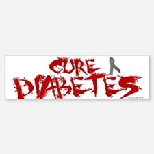 Cure Diabetes Graffiti Red Bumper Car Car Sticker