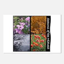 Postcards (Package of 8) - midwest seasons
