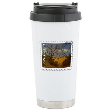 Spruce Woods Stamp Stainless Steel Travel Mug