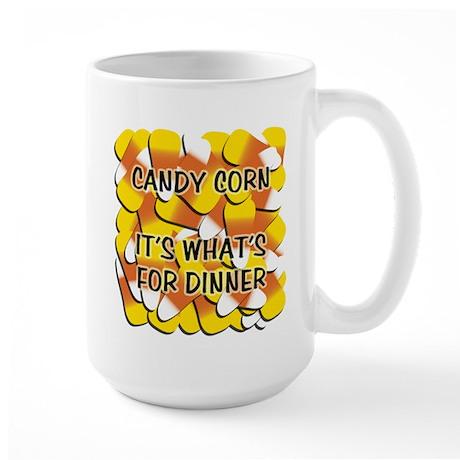 Candy Corn for Dinner Large Mug