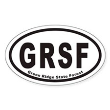 Green Ridge State Forest GRSF Euro Oval Decal