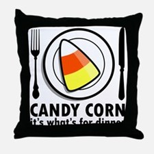Candy Corn for Dinner Throw Pillow