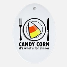 Candy Corn for Dinner Oval Ornament