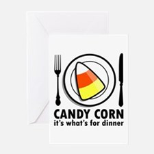 Candy Corn for Dinner Greeting Card