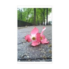 New York Flower Rectangle Decal