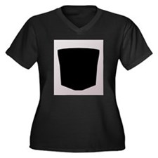 Rub Sign Women's Plus Size V-Neck Dark T-Shirt