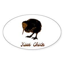 Kiwi Chick Oval Decal